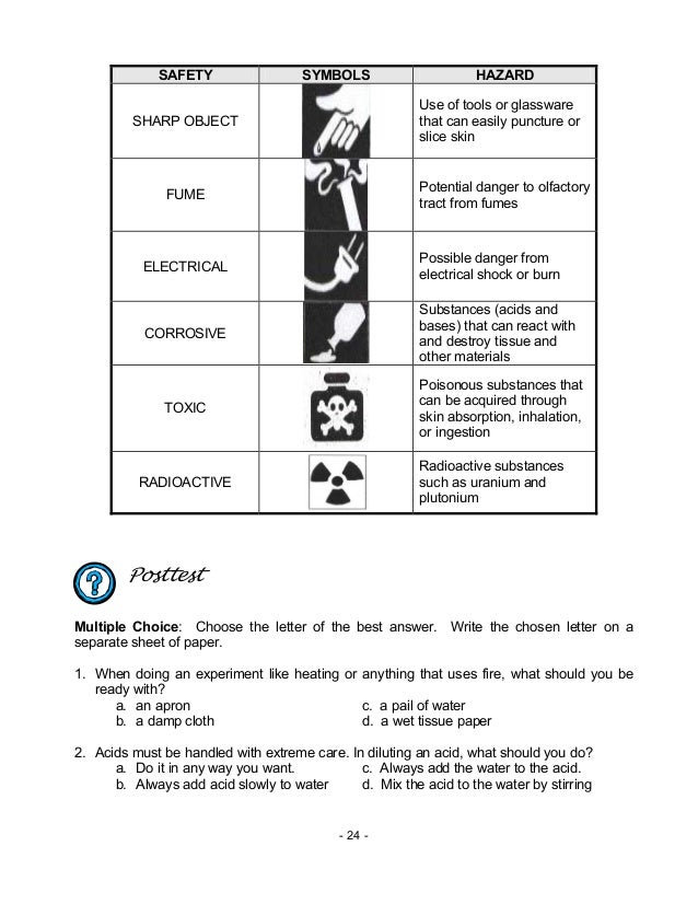Printables Lab Safety Symbols Worksheet chem m2 laboratory apparatus safety rules symbols 24 symbols