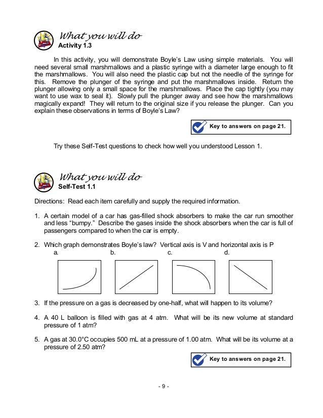 Chem m9 gas laws