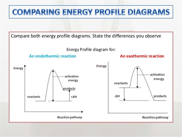 Energy Profile Diagram For Exothermic And Endothermic Reaction