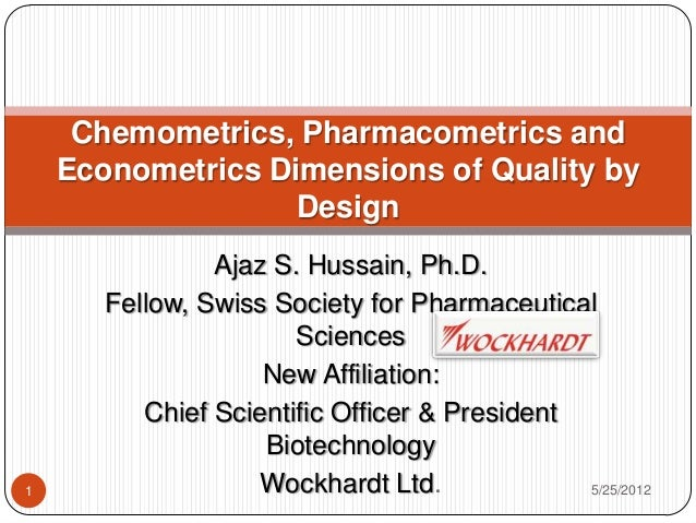 Ajaz S. Hussain, Ph.D.Fellow, Swiss Society for PharmaceuticalSciencesNew Affiliation:Chief Scientific Officer & President...