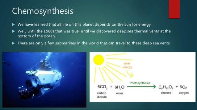 by chemosynthesis Chemosynthesis is a biological process that uses inorganic compounds (rather than sunlight as in photosynthesis) as the energy source to convert carbon compounds and nutrients into organic matter.