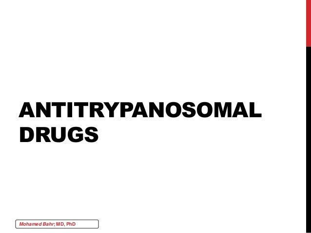 Chemotherapy 5 antiprotozoal agents