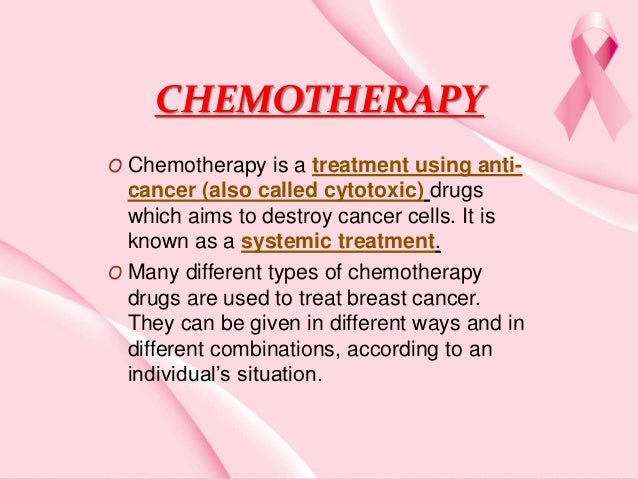 Chemotherapy Of Breast Cancer
