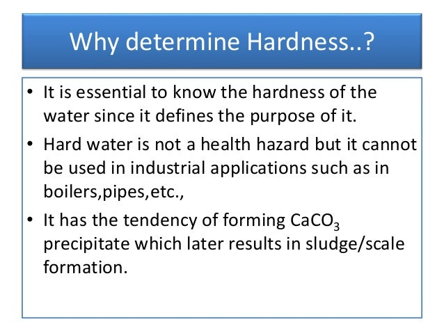 water hardness titration Quantitative determination of total hardness in drinking water by complexometric edta titration ra rogio department of mining.