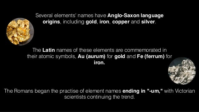 Ancient Naming Of Elements 3