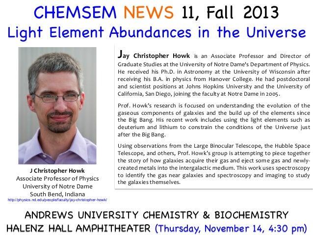 CHEMSEM NEWS 11, Fall 2013