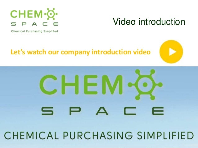ChemSpace (Presented at ChemSpec Europe 2016)