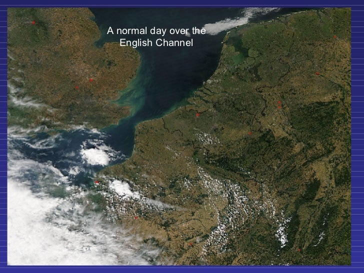 A normal day over the English Channel