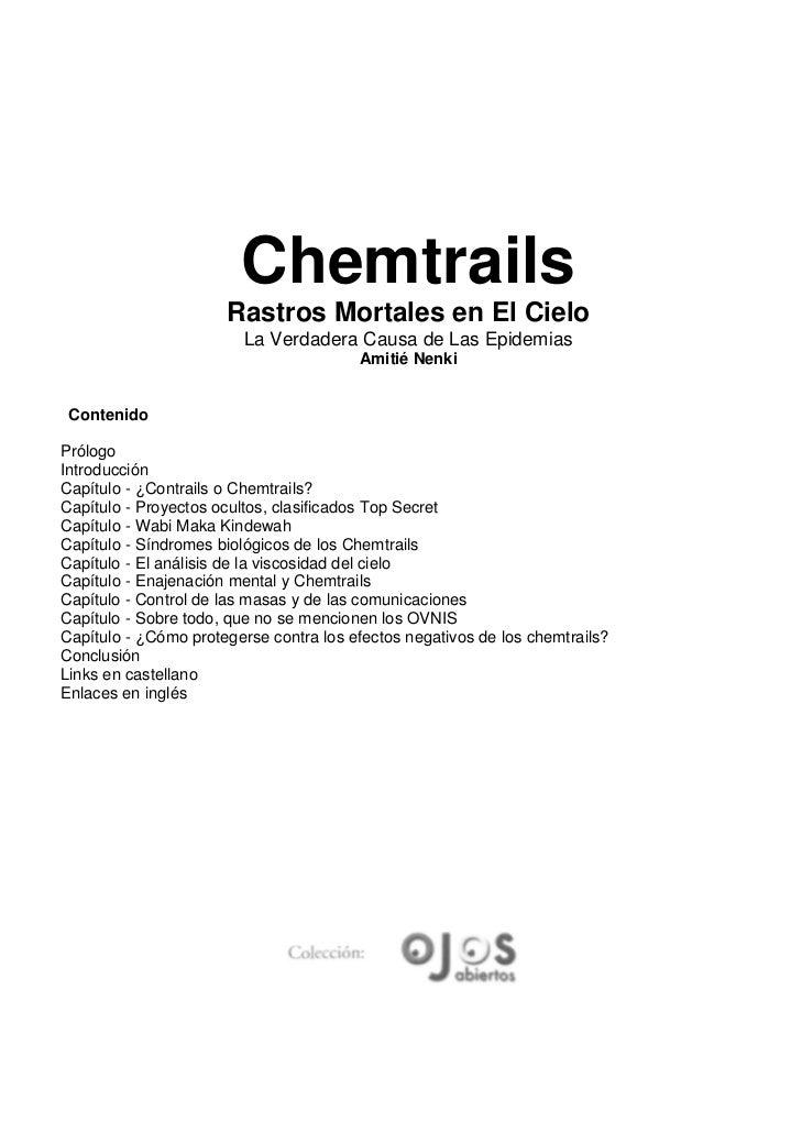 Chemtrails                      Rastros Mortales en El Cielo                         La Verdadera Causa de Las Epidemias  ...