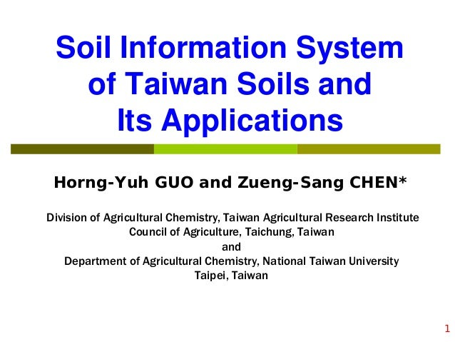 Soil information system of taiwan soils and its for Soil details