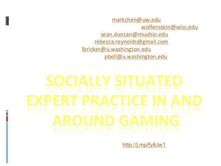 Mark Chen, U of WA, @mcdanger, markchen@uw.edu Moses Wolfenstein, UWisc, @mosesoperandi, wolfenstein...