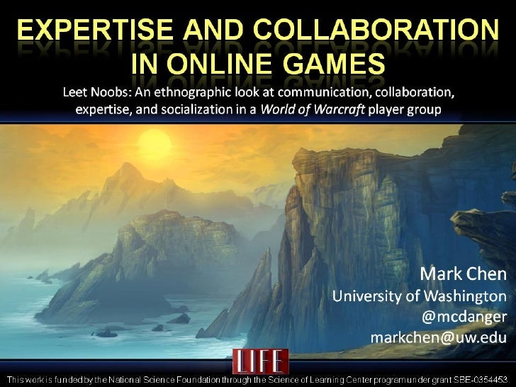 Expertise and Collaboration in Online Games