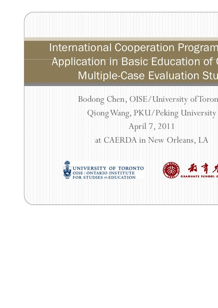 International Cooperation Programs for ICT Application in Basic Ed cation of China A                      Education China:...