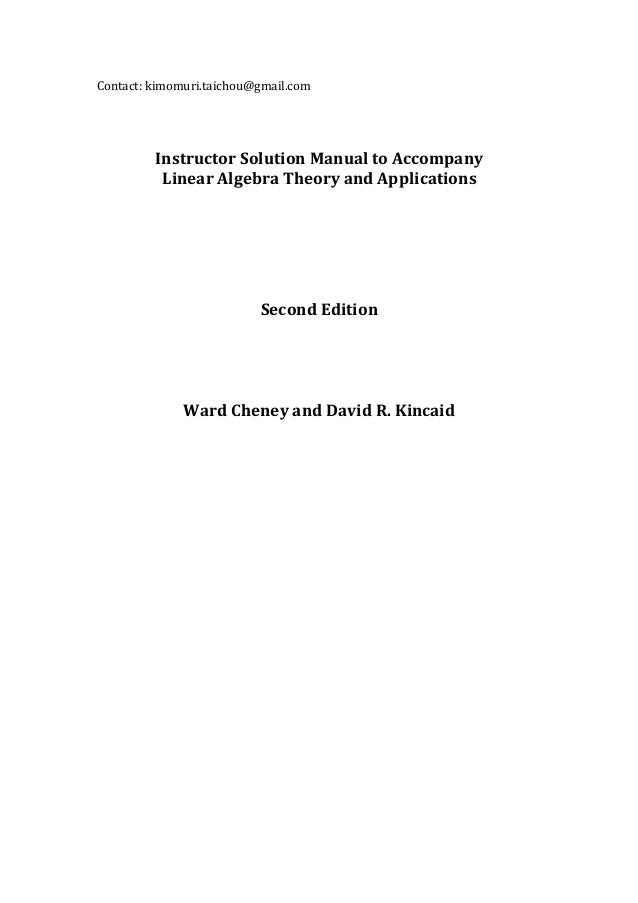 linear algebra theory and applications second edition by ward chene rh slideshare net Solution of Equations in Algebra Algebra Solution Set Calculator