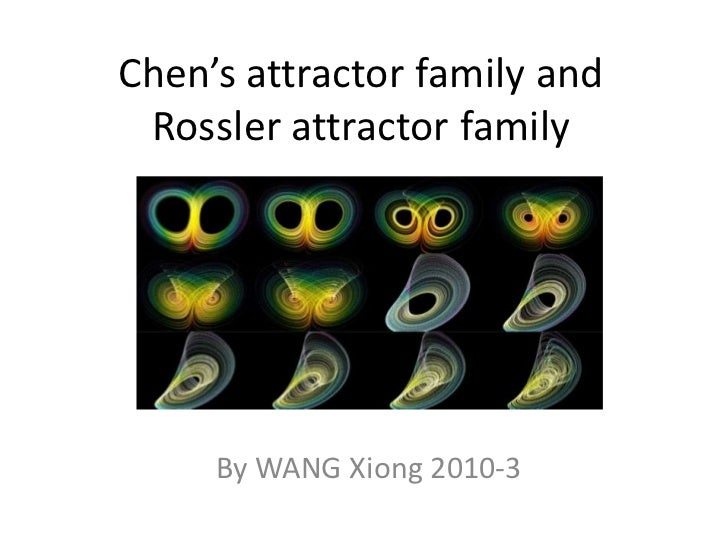 Chen's attractor family and Rossler attractor family     By WANG Xiong 2010-3
