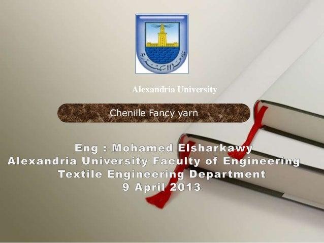Alexandria UniversityChenille Fancy yarn