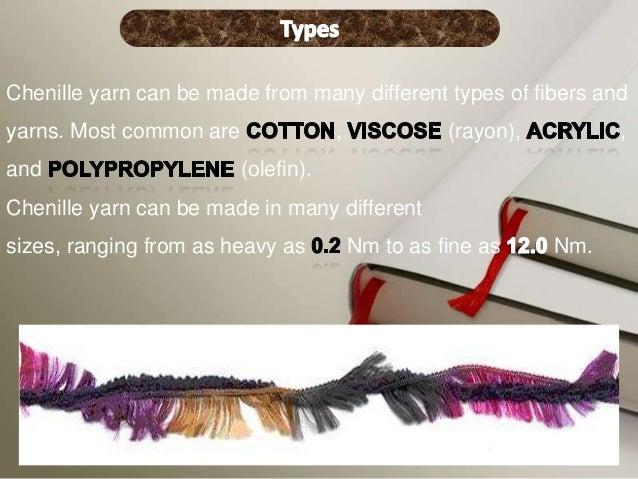 Chenille fancy yarns