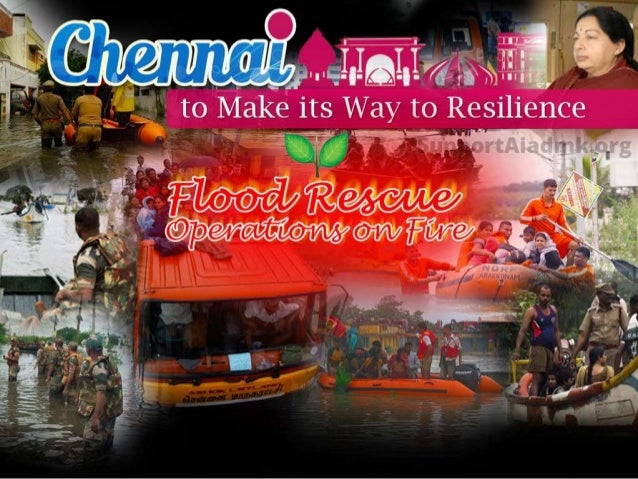 Chennai to Make its Way to Resilience Flood Rescue Operations on Fire