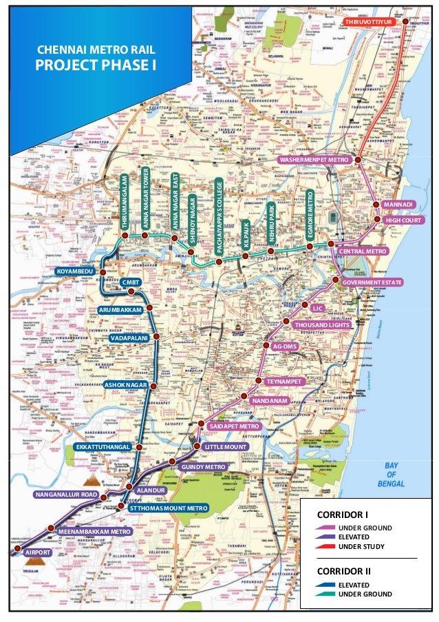 Chennai Metro Rail route map