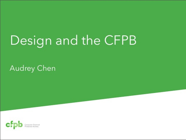 Design and the CFPBAudrey Chen