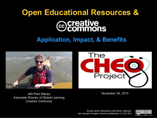 Open Educational Resources & Application, Impact, & Benefits  with Paul Stacey Associate Director of Global Learning Creat...