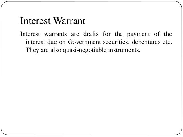 dividend warrant and interest warrant pdf download