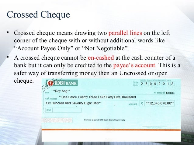 double crossing cheque image