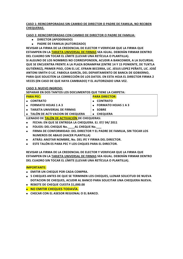 Chequeras for Solicitud de chequera