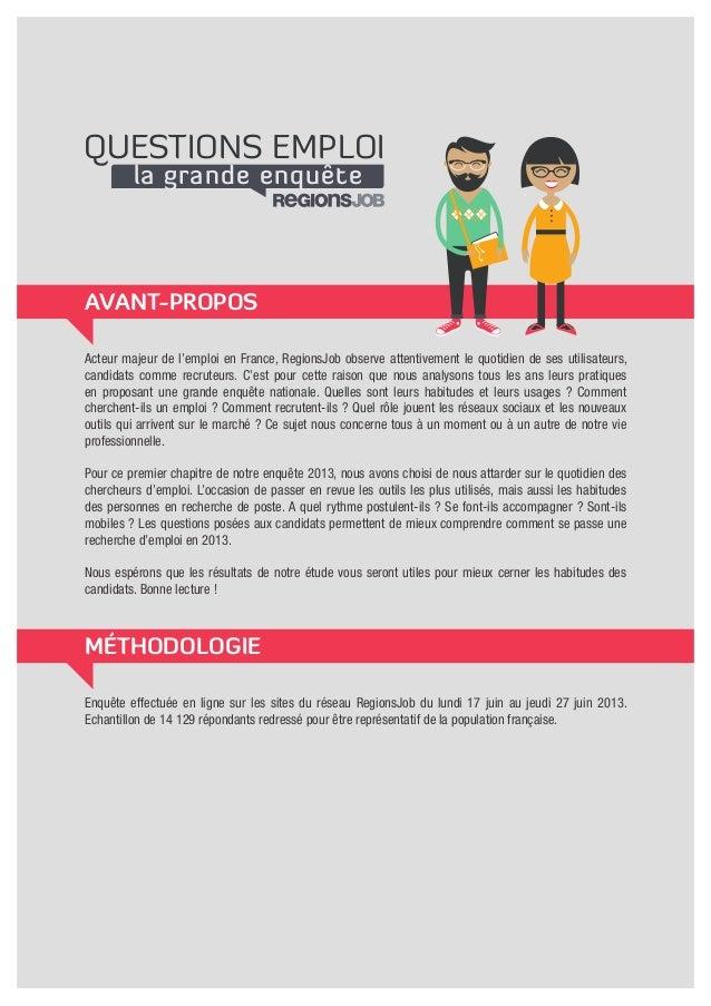 Enquete regionsjob chercher un emploi en 2013 Slide 2