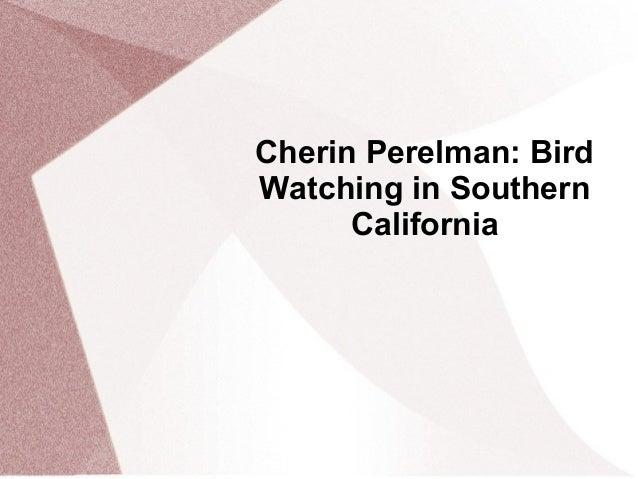 Cherin Perelman: BirdWatching in SouthernCalifornia