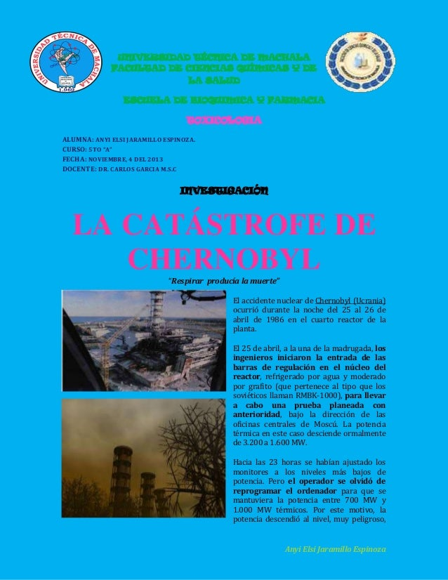 UNIVERSIDAD TÉCNICA DE MACHALA FACULTAD DE CIENCIAS QUÍMICAS Y DE LA SALUD ESCUELA DE BIOQUIMICA Y FARMACIA  TOXICOLOGIA A...