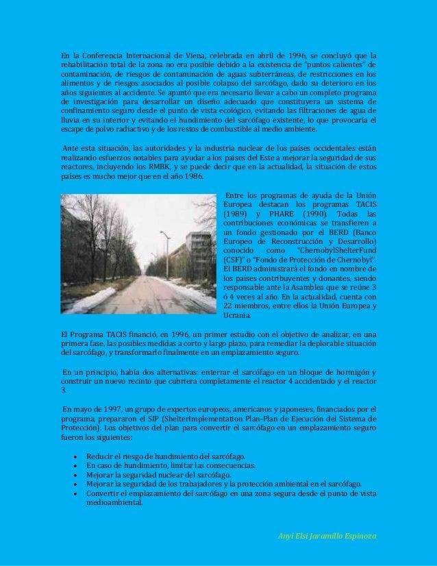 En la Conferencia Internacional de Viena, celebrada en abril de 1996, se concluyó que la rehabilitación total de la zona n...
