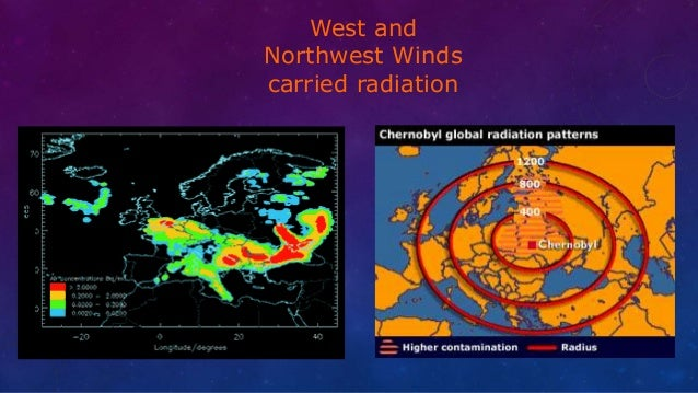 West and Northwest Winds carried radiation
