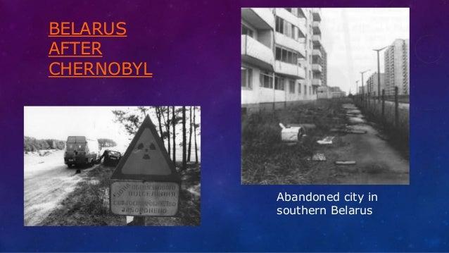 BELARUS AFTER CHERNOBYL Abandoned city in southern Belarus