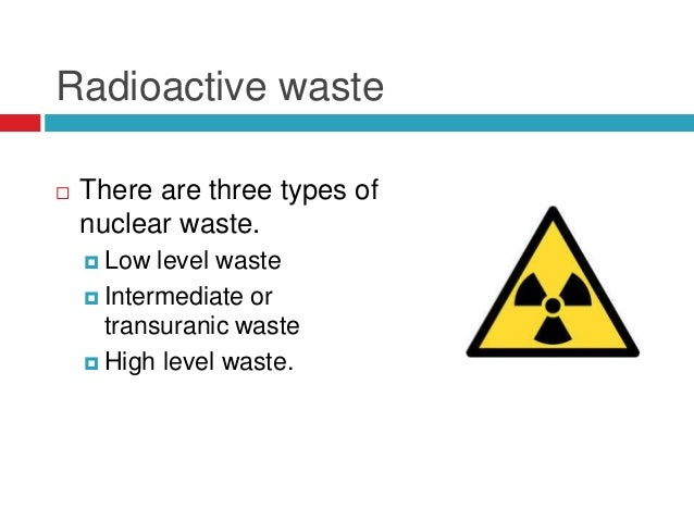 TYPES OF NUCLEAR WASTE EBOOK