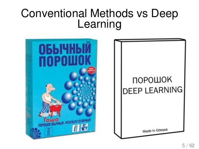 Conventional Methods vs Deep Learning 5 / 62