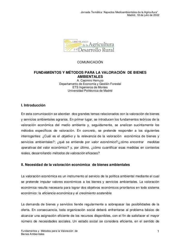 """Jornada Temática """"Aspectos Medioambientales de la Agricultura""""                                                            ..."""