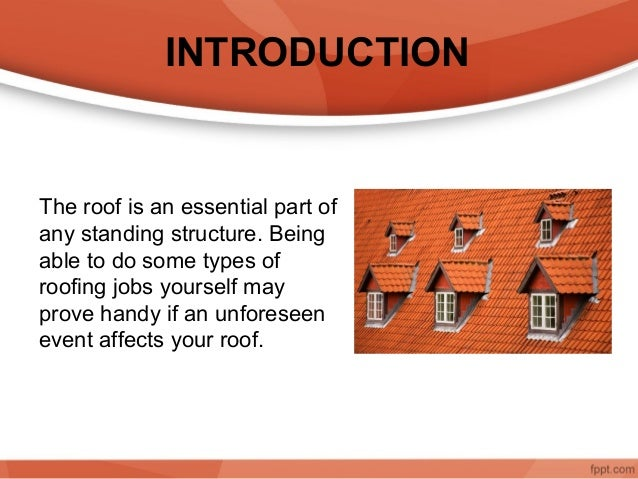 SAFETY AND DO IT YOURSELF ROOF REPAIR JOBS; 2.