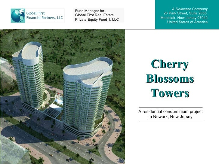 Cherry Blossoms Towers A residential condominium project in Newark, New Jersey