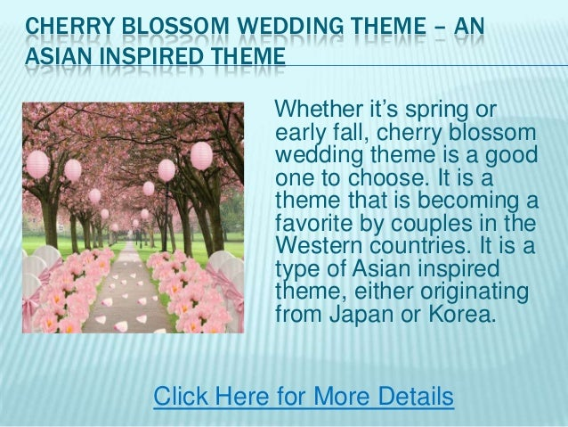 If The Ring Fits Asian Inspired Wedding: Cherry Blossom Wedding Theme