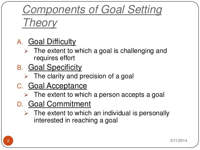 goal theory of motivation essay