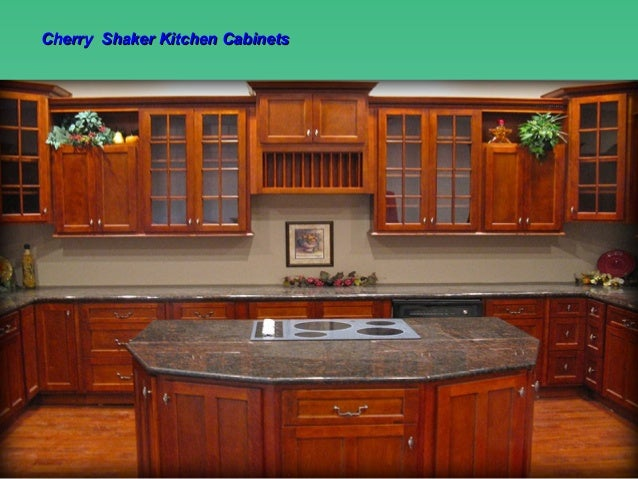 Cherry Shaker Kitchen Cabinets Design, Ideas By Lily Ann Cabinets