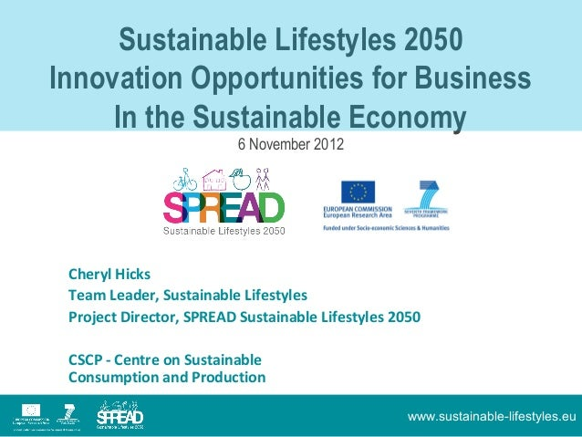 Sustainable Lifestyles 2050Lkj;j;lkj;   Innovation Opportunities for Business        In the Sustainable Economy           ...