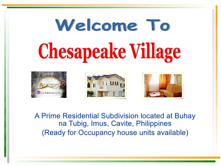A Prime Residential Subdivision located at Buhay na Tubig, Imus, Cavite, Philippines Ready for Occupancy, Only Few Units a...