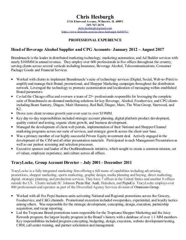 Resume of Chris Hesburgh Marketing|Advertising|Ad Builder|Digital Med…