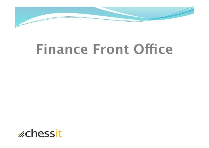 Finance Front Office