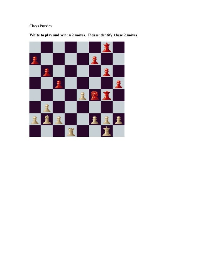 Chess Puzzles White to play and win in 2 moves. Please identify these 2 moves