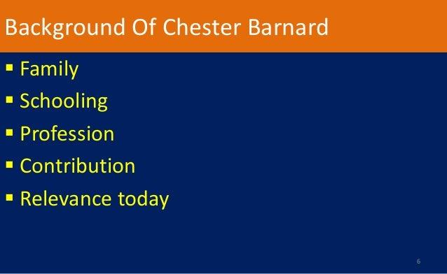 chester bernard contribution in management Background of chester barnard family schooling profession contribution  family of chester barnard chester bernard 8  work in management.