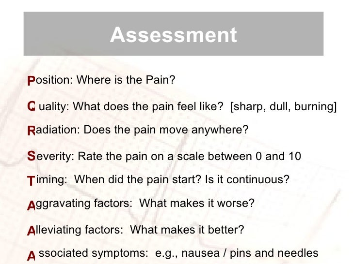pain assessment and management Introduction 1 introduction the pain assessment and management clinical practice guideline (cpg) is a tool that has been developed by regional pain experts and.