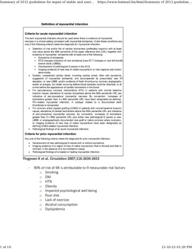 Summary of 2012 guidelines for mgmt of stable and unst... https://www.fastmail.fm/html/Summary of 2012 guideline... 1 of 1...